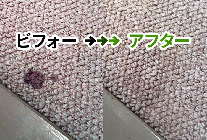 絨毯の汚れ シミ パーフェクトグリーン